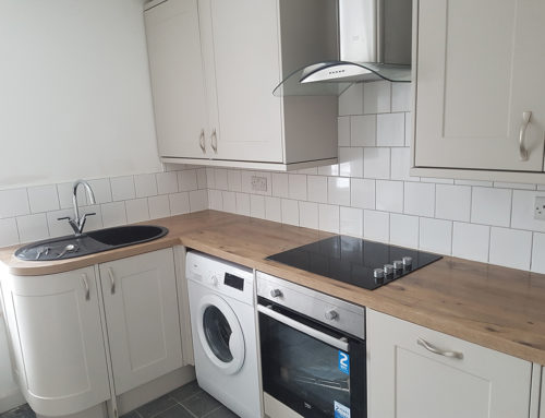 Kitchen Tiling in Rented Accommodation Re-fit