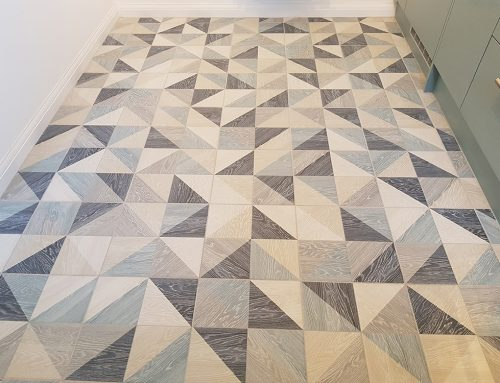 Contemporary Geometric Tiles for Kitchen Floor