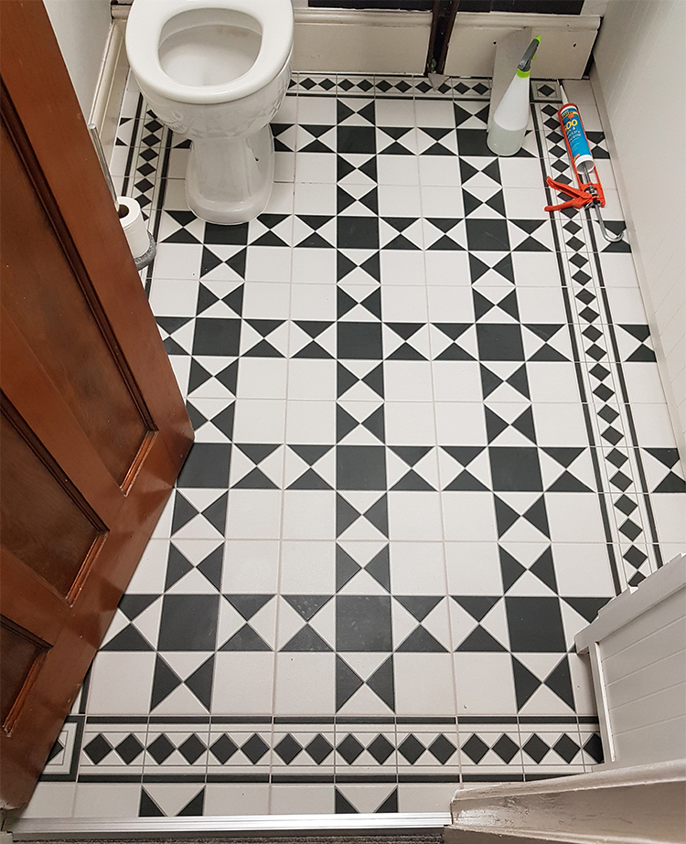 Victorian tiled bathroom complete