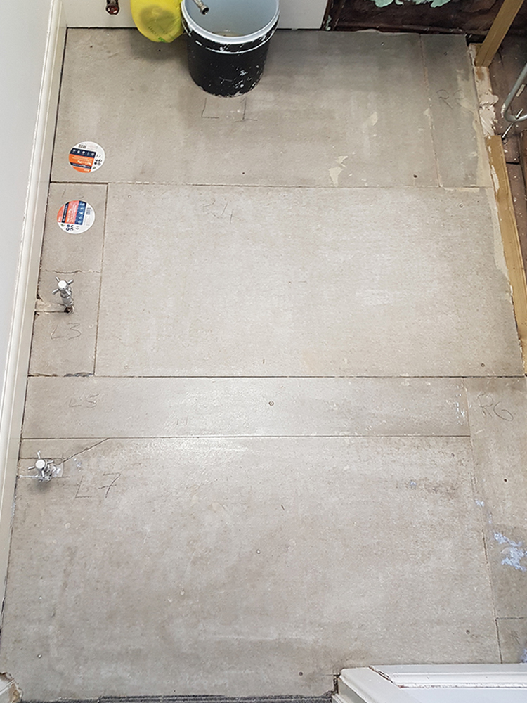 Bathroom before tiling commenced